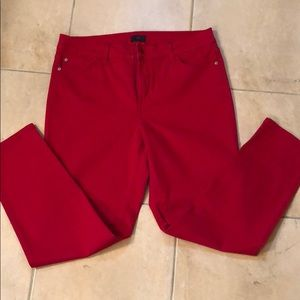 NYDJ red ankle lift tuck technology pants
